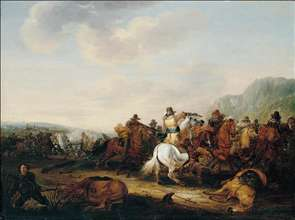 A Skirmish Between Cavalry and Infantry