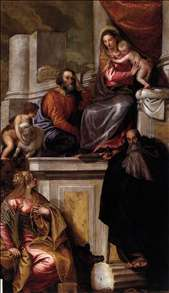 Holy Family with Sts Anthony Abbot, Catherine and the Infant John the Baptist