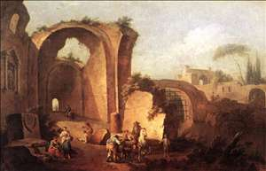 Landscape with Ruins and Archway