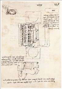 Manuscript page on the Sforza monument