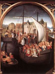 St Ursula Shrine: Departure from Basle (scene 4)