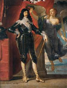 Louis XIII Crowned by Victory (Siege of La Rochelle, 1628)