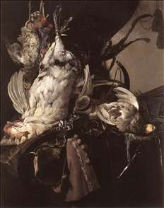 Still-Life of Dead Birds and Hunting Weapons