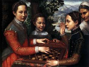 Portrait of the Artist's Sisters Playing Chess