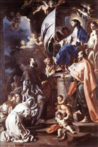 St Bonaventura Receiving the Banner of St Sepulchre from the Madonna