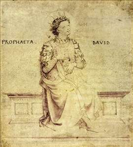 King David Playin a Psaltery