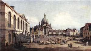 New Market Square in Dresden from the J�denhof