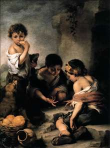 Young Boys Playing Dice
