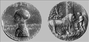 Medal of Leonello d'Este (obverse and reverse)