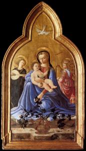 Madonna and Child with Two Angels (Madonna of Humility)