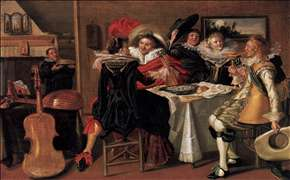 Merry Company at Table