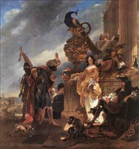 Merchant Receiving a Moor in the Harbour
