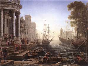 Port Scene with the Embarkation of St Ursula