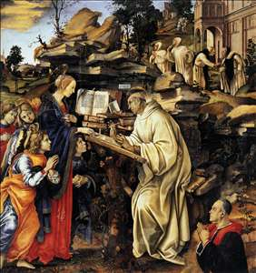 Apparition of The Virgin to St Bernard