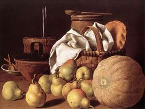 Still-Life with Melon and Pears