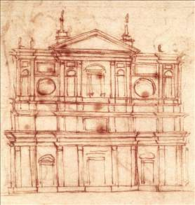 Project for the fa�ade of San Lorenzo, Florence