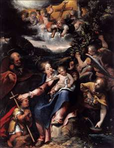 The Holy Family with the Infant St John the Baptist in a Landscape