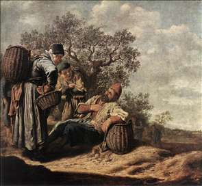 Landscape with Conversing Peasants