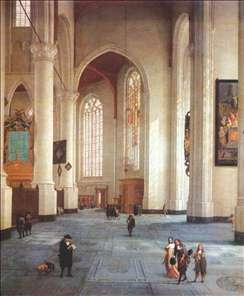 Interior of the St Laurenskerk in Rotterdam
