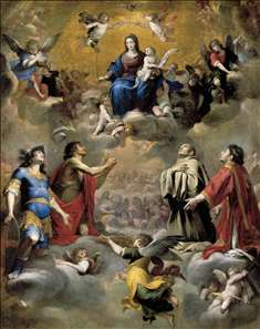 Virgin and Child in Glory with Saints
