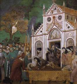 Legend of St Francis: 23. St. Francis Mourned by St. Clare