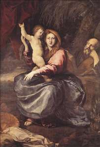 The Holy Family at the Palm-tree