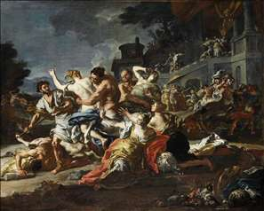 Battle between Lapiths and Centaurs