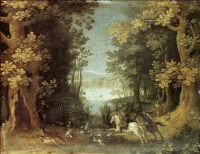 Landscape with a Deer Hunt