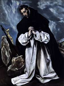 St Dominic in Prayer