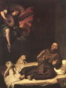 St Francis Comforted by an Angel
