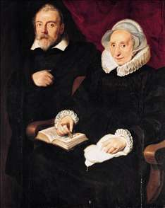 Portrait of Elisabeth Mertens and Her Late Husband