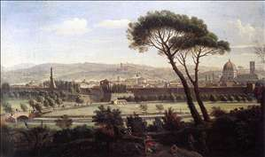 View of Florence from the Via Bolognese