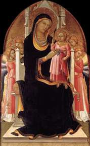 Virgin and Child Enthroned with Six Angels