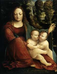 Madonna and Child with the Infant St John