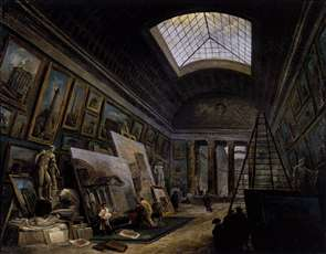 Imaginary View of the Grande Galerie in the Louvre