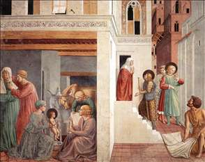 Scenes from the Life of St Francis (Scene 1, north wall)