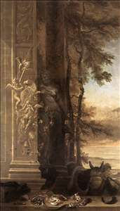 Game Still-Life with Statue of Diana