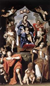Madonna and Child with St Petronius and St John the Evangelist