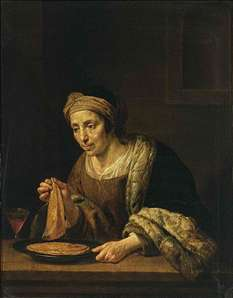 A Woman Holding Pancakes