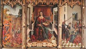 Triptych of St Catherine