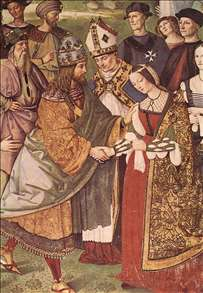 Aeneas Piccolomini Introduces Eleonora of Portugal to Frederick III