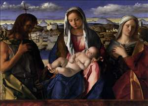 Madonna and Child with St John the Baptist and a Saint