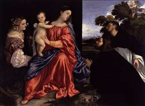 Madonna and Child with Sts Catherine and Dominic and a Donor