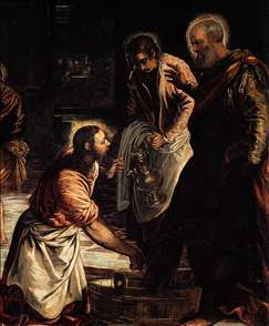 Christ Washing the Feet of His Disciples (detail)