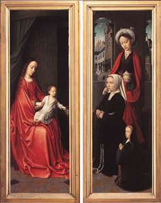 Triptych of Jan Des Trompes (rear of the wings)