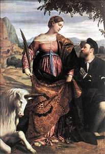St Justina with the Unicorn