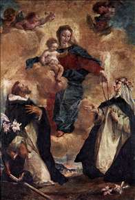 Virgin and Child with Sts Dominic and Rosa of Lima