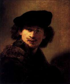 Self-Portrait with Velvet Beret and Furred Mantel