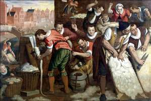 The Removal of the Wool from the Skins and the Combing