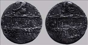 Medal of the Pazzi cospiracy, obverse: Lorenzo, reverse: Giuliano